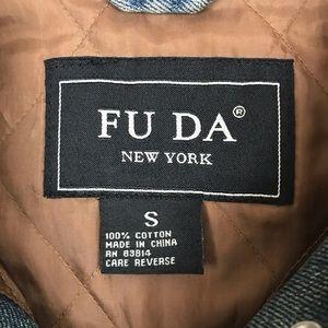 FU DA Jackets & Coats - FU DA Faux Fur Trimmed Denim Vest